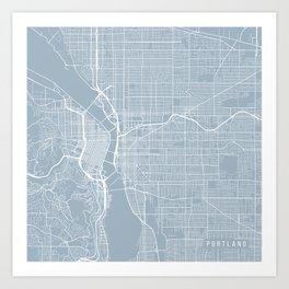 Portland Map, USA - Slate Art Print