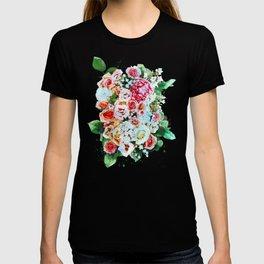 Rose Flower Bouquet Watercolor T-shirt
