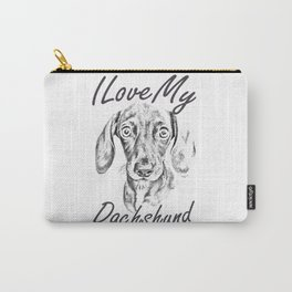 I Love My Dachshund Carry-All Pouch
