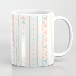 Geometrical blush blue coral pink bohemian arrows Coffee Mug