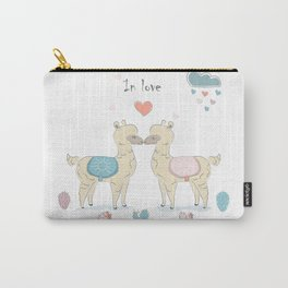 Llamas In Love Carry-All Pouch
