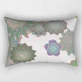 Succulent Spiral Rectangular Pillow
