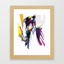 Michael Jacko Colorful Art Framed Art Print