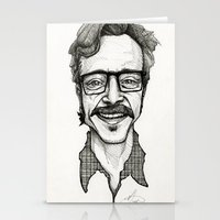 marc johns Stationery Cards featuring Marc Maron by Simone Bellenoit : Art & Illustration