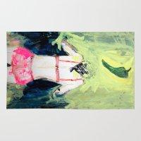 chile Area & Throw Rugs featuring Oración al chile by Violeta Rivera