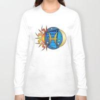 astrology Long Sleeve T-shirts featuring Astrology, fish by Karl-Heinz Lüpke