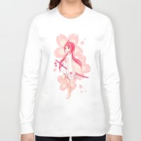 sakura Long Sleeve T-shirts featuring Sakura by Freeminds