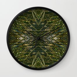 Coconut Leaf collage 2 Wall Clock
