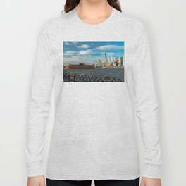 Freedom Tower 2013 w/ Boat Long Sleeve T-shirt