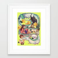 spirited away Framed Art Prints featuring Spirited Away by KEL H
