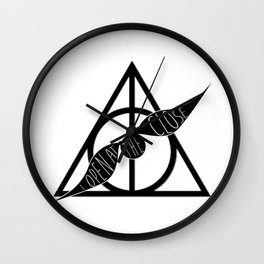 I Open At The Close Deathly Hallows Snitch Wall Clock