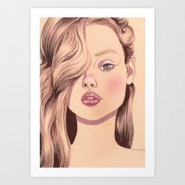 bleached brows Art Print