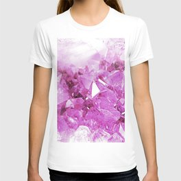 Crystal Pink Abstract T-shirt