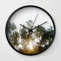 chill Wall Clocks featuring Chill by stefani187