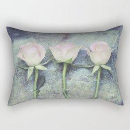 Three Roses IV Rectangular Pillow