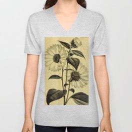 Sunflower Helianthus multiflorus 1891 Unisex V-Neck