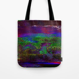 66-84-01 (Earth Night Glitch) Tote Bag