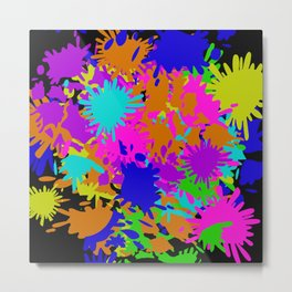 Splatoon Ink Fight Pattern Metal Print