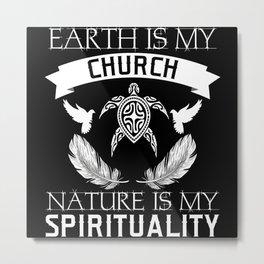 Earth Church Nature Spirituality Turtle Metal Print