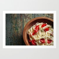 pasta Art Prints featuring Pasta by Eli Potter