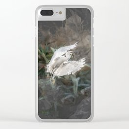 Little herons in flight Clear iPhone Case