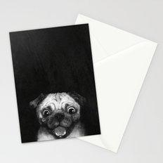 Snuggle pug Stationery Cards