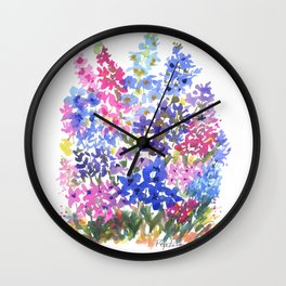 Blue Delphinium Garden Wall Clock