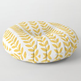 Scandinavian Mid Century Pattern Yellow Floor Pillow