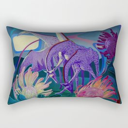 Moonlight dances Rectangular Pillow