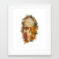 psychadelic Framed Art Prints featuring Psychadelic Skull by In Full Color