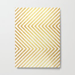 Gold and marble art VII Metal Print