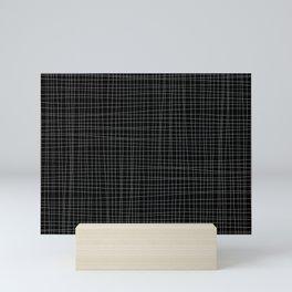 Black and White Grid - Disorderly Order Mini Art Print