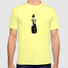 Solitude Mens Fitted Tee SMALL Lemon
