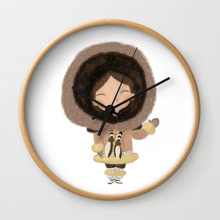 Cute eskimo Wall Clock
