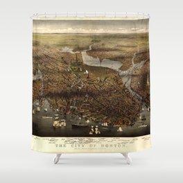 The city of Boston, Massachusetts (1873) Shower Curtain