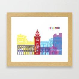 Bergamo skyline pop Framed Art Print