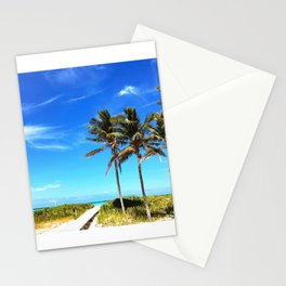 Palm Trees Caribbean Ocean Stationery Cards