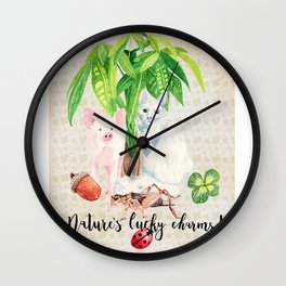 Nature's Lucky Charms Wall Clock