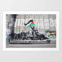 palestine Art Prints featuring Bethlehem, Palestine by cathleenphotos