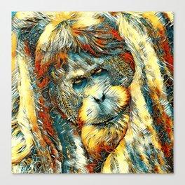 AnimalArt_OrangUtan_20170901_by_JAMColorsSpecial Canvas Print