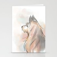 terrier Stationery Cards featuring Terrier by Eviko