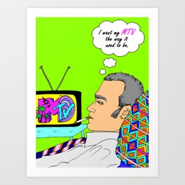 I Want my MTV the way it used to be, 90's Ewan McGregor Illustration Art Print