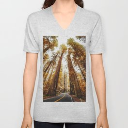 red woods forest in california Unisex V-Neck