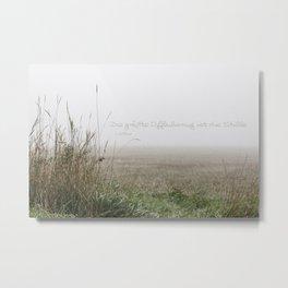 Nebel und Stille, deutsch Metal Print