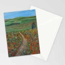 New Journey, Impressionism Poppy Field Stationery Cards