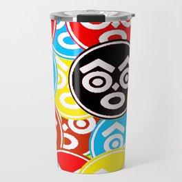 """ZULU NATION: MULTI-COLOR LOGO DUECE"" Travel Mug"