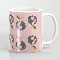 apple Mugs featuring Apple by FLATOWL