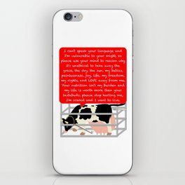 I'm a being not a commodity iPhone Skin