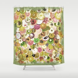 Fruit Madness (All The Fruits) Vintage Shower Curtain