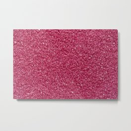 Pink grains of bright sugar Metal Print